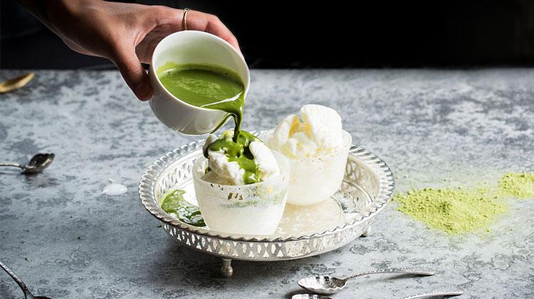 green-tea-poured-over-ice-cream